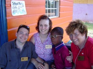 04 Dr Murray and Tricia Adams and Jeannette at boys school Jamaica 2004