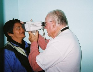 Bob using the retinomax